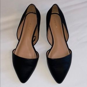 Lane Bryant Black pointed toe flats 8